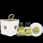 Idea Toscana kūno priežiūros priemonių rinkinys BODY WISH BOX, 3 prod. (2 x 30 ml + 100 g)