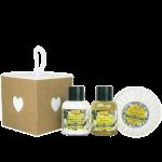 Idea Toscana kūno priežiūros priemonių rinkinys SHOWER WISH BOX, 3 prod. (2x30 ml + 100g)