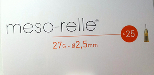 Micro Mesorelle needles 27Gx2,5mm, 25 vnt.