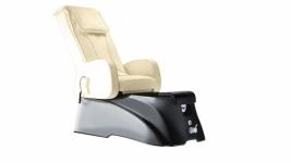 SPA pedikiūro kėdė TS1204 ECRU / LATTE-BLACK su masažo programomis, vonele